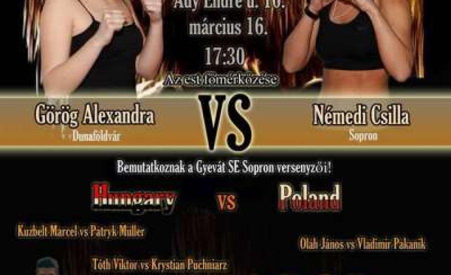 Vasárnap bokszgála Sopronban