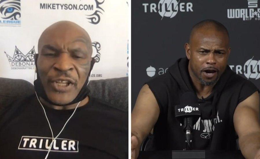 Mike Tyson és Roy Jones on-line sajtótájékoztatót tartott