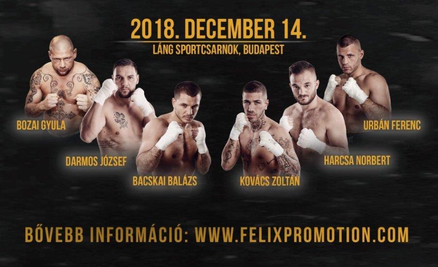 Budapesti bokszgálával zárja az évet a Felix Promotion