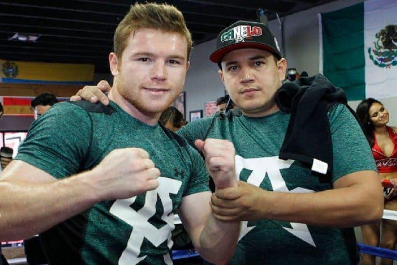 Saul Canelo Alvarez and trainer Eddy Reynoso