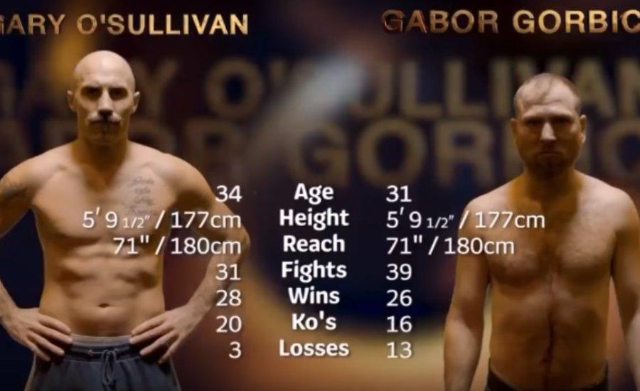 Görbics Gábor vs. Gary O'Sullivan
