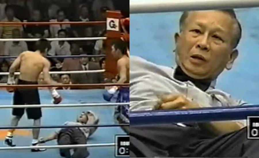 Amikor a bírót ütik ki a boxmérkőzésen - TOP5