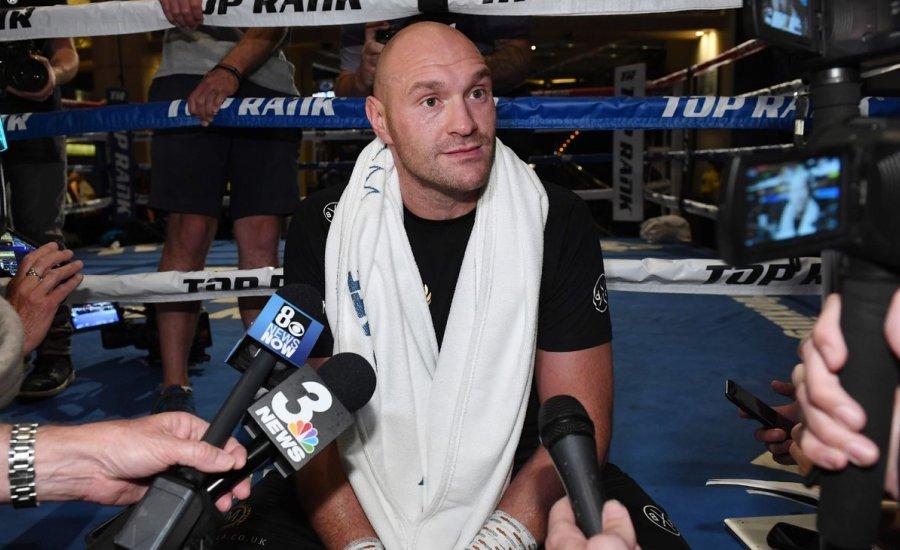 Tyson Fury médiaedzése