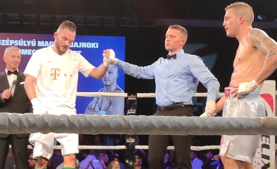 Harcsa Norbert és Urbán Ferenc profi magyar-bajnoki övet szerzett