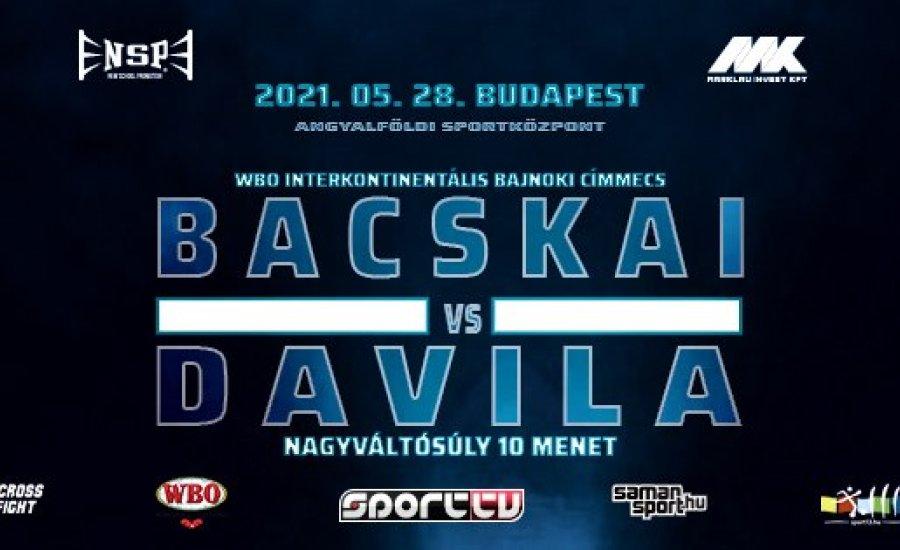 Bacskai Balázs májusban ismét Budapesten lép ringbe