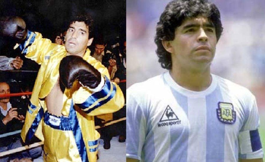 Egyetlen bokszmérkőzésével búcsúzunk Diego Maradonától