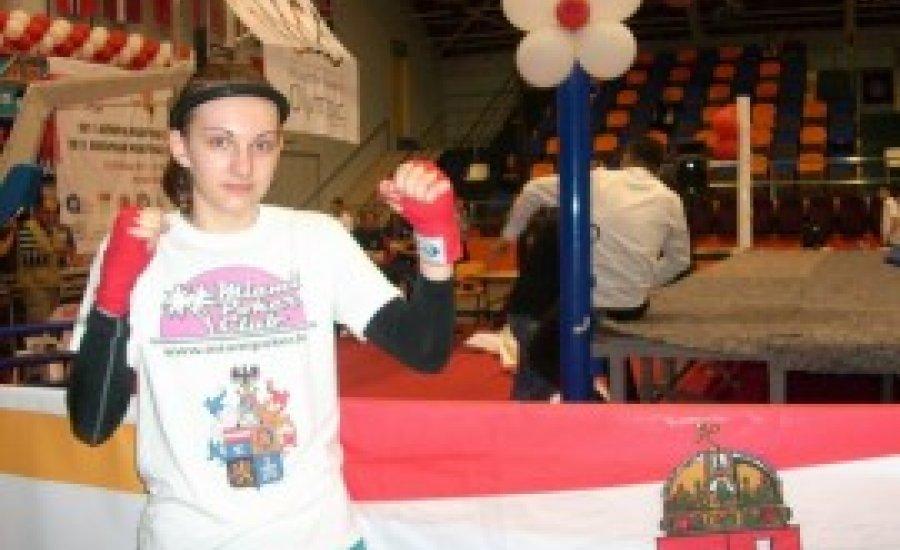 Hazánk első IFMA Thai-box Európa-bajnoka Éltető Daniella