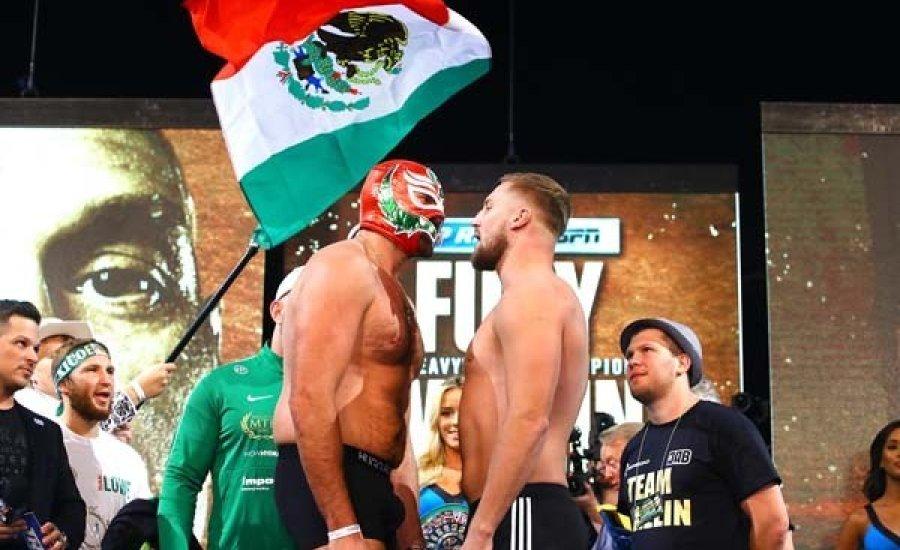 A Tyson Fury vs. Otto Wallin mérkőzés ceremoniális mérlegelése