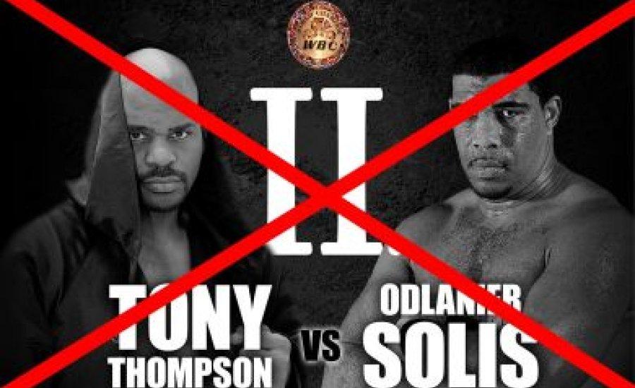 Nem lesz Solis-Thompson visszavágó