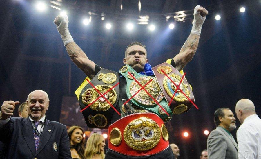 Usyk már nem WBO és WBC világbajnok