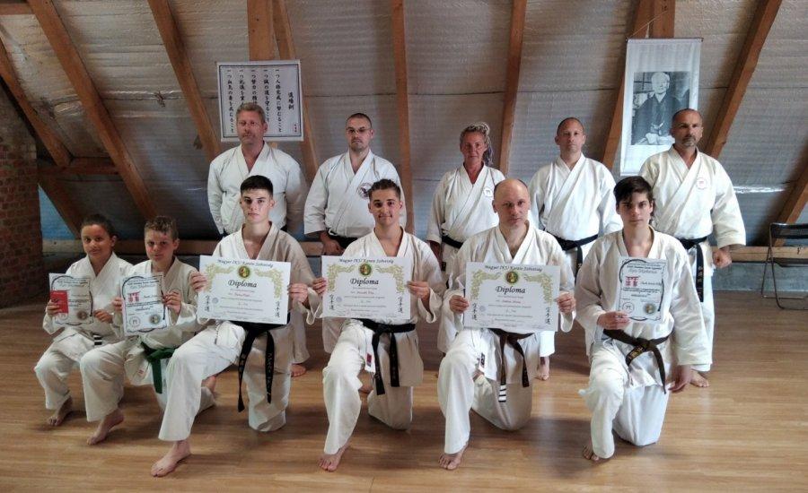Magyar IKU Karate Szövetség központi edzőtábor és övvizsga