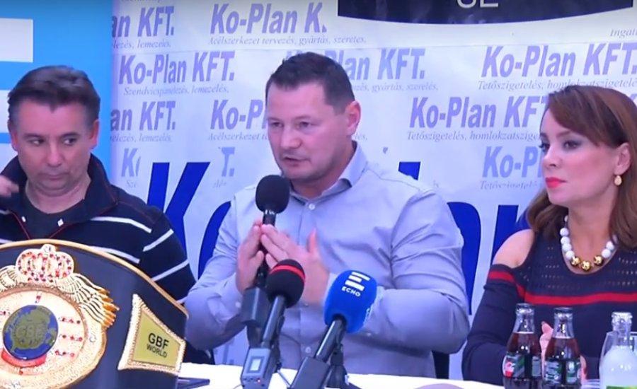 A Mezőfalván megrendezésre kerülő boxgála sajtótájékoztatója