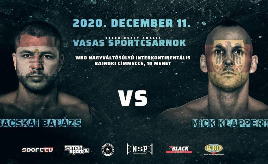 Bacskai Balázs WBO övért bokszol december 11-én
