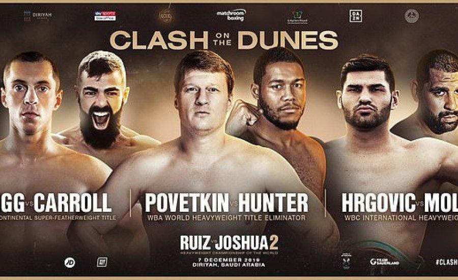 Erős felvezető program lesz a Ruiz-Joshua gálán
