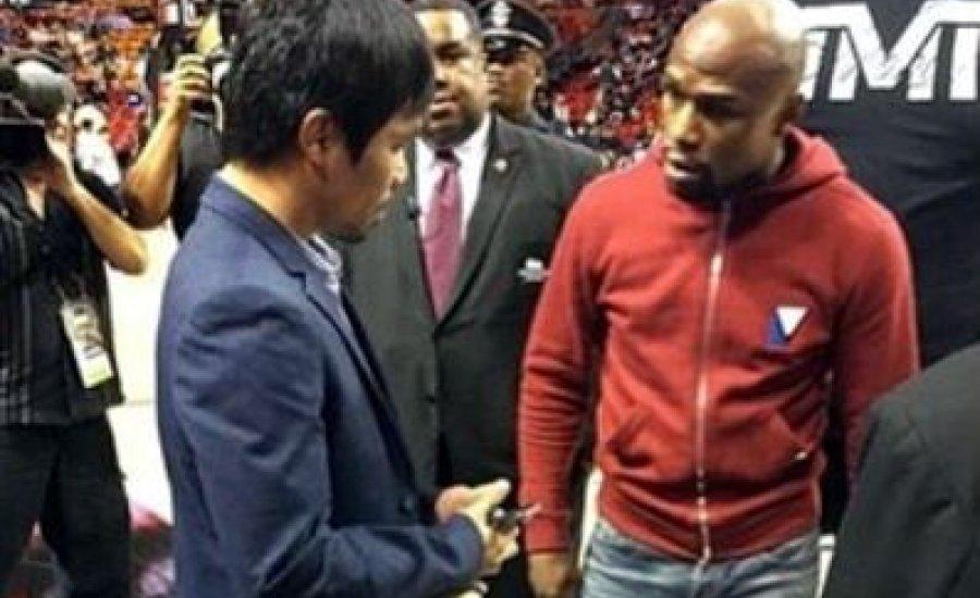 Pacquiao és Floyd első személyes találkozója