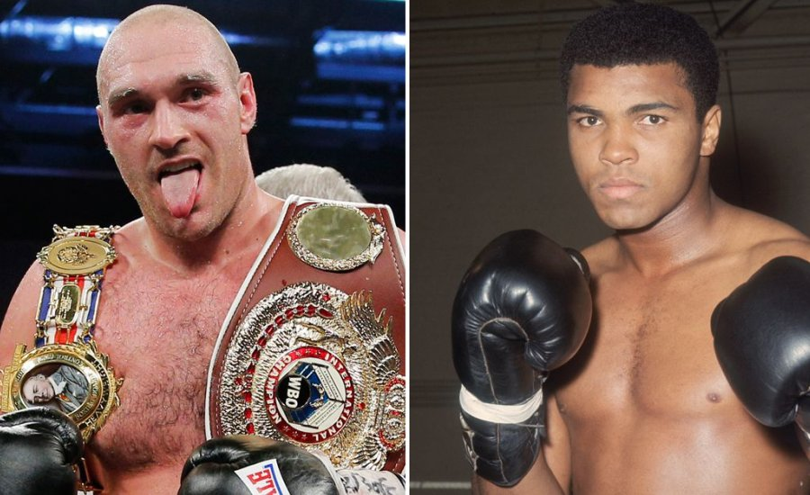 Tyson Fury mint Muhammad Ali